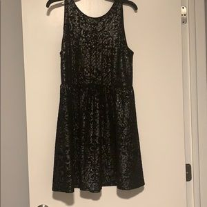 Black Dress with Metallic Details